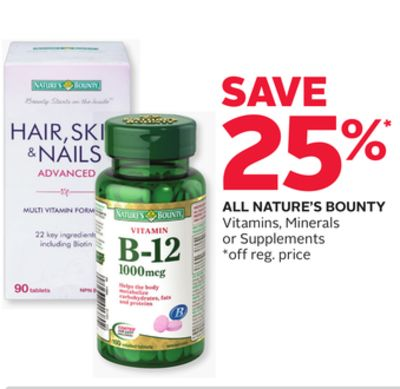 All Nature's Bounty Vitamins - Minerals or Supplements
