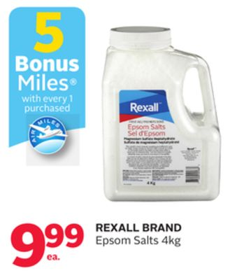 Rexall Brand Epsom Salts - 5 Bonus Air Miles Reward Miles