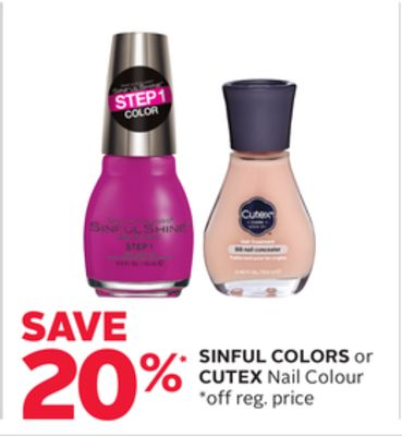 Sinful Colors or Cutex Nail Colour
