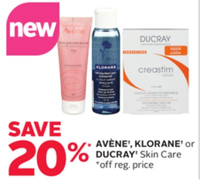 Avène - Klorane or Ducray Skin Care