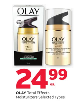 Olay Total Effects Moisturizers