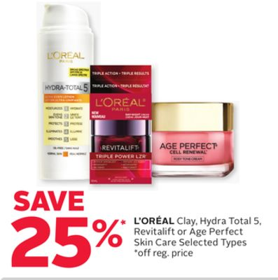 L'oréal Clay - Hydra Total 5 - Revitalift or Age Perfect Skin Care