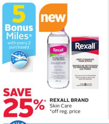 Rexall Brand Skin Care - 5 Bonus Air Miles Reward Miles