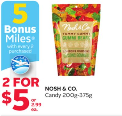 Nosh & Co.candy - 5 Bonus Air Miles Reward Miles