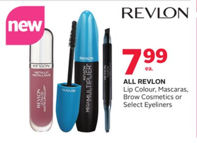 All Revlon Lip Colour - Mascaras - Brow Cosmetics or Select Eyeliners