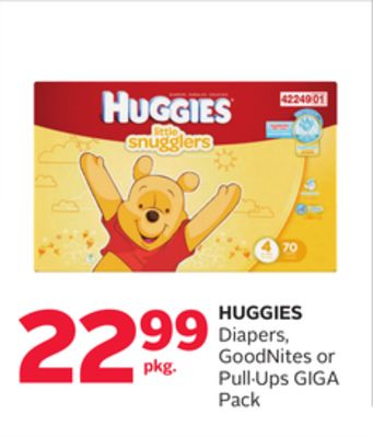 Huggies Diapers - Goodnites or Pull·ups Giga Pack