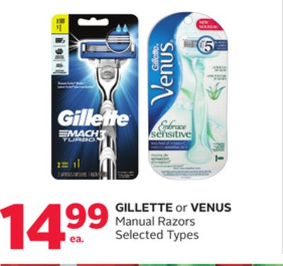 Gillette or Venus Manual Razors