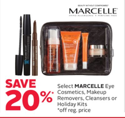 Select Marcelle Eye Cosmetics - Makeup Removers - Cleansers or Holiday Kits