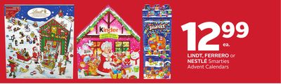 Lindt - Ferrero or Nestlé Smarties Advent Calendars