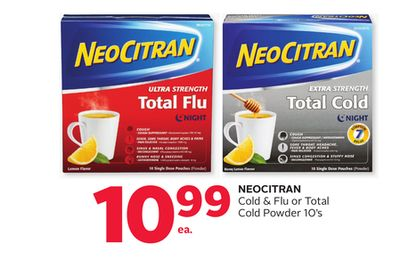 Neocitran Cold & Flu or Total Cold Powder 10's