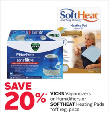 Vicks Vapourizers or Humidifiers or Softheat Heating Pads