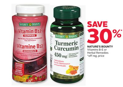 Nature's Bounty Vitamins B-e or Herbal Remedies