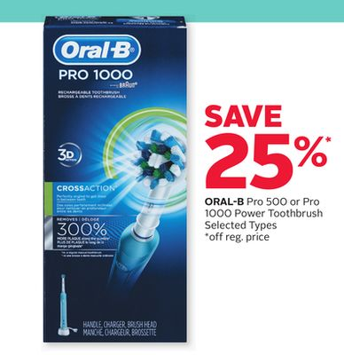 Oral-B Pro 500 or Pro 1000 Power Toothbrush