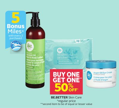 Be.better Skin Care - 5 Bonus Air Miles Reward Miles