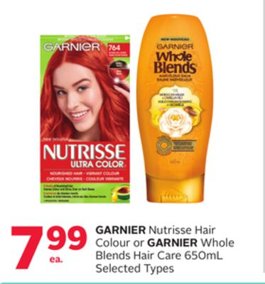Garnier Nutrisse Hair Colour Or Garnier Whole Blends Hair Care 650ml
