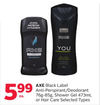 Axe Black Label Anti-perspirant/deodorant 76g-85g - Shower Gel 473ml or Hair Care