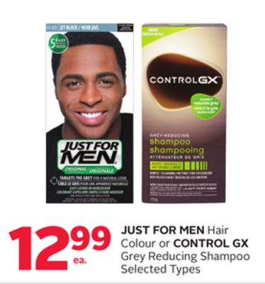 Just For Men Hair Colour or Control Gx Grey Reducing Shampoo