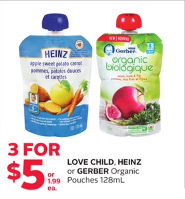 Love Child - Heinz or Gerber Organic Pouches