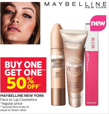 Maybelline New York Face or Lip Cosmetics