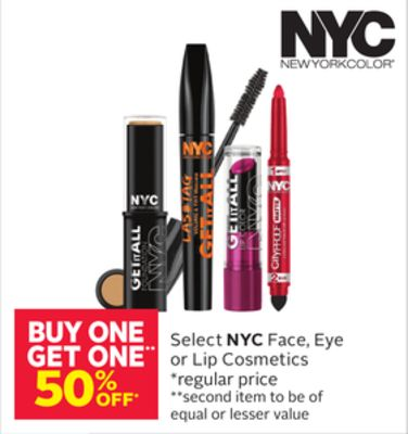Select Nyc Face - Eye or Lip Cosmetics