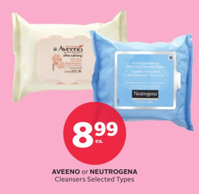 Aveeno or Neutrogena Cleansers