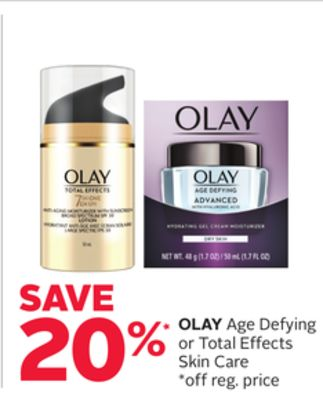 Olay Age Defying or Total Effects Skin Care