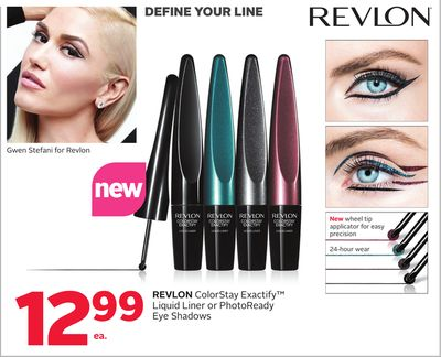 Revlon ColorStay Exactify Liquid Liner or Photoready Eye Shadows