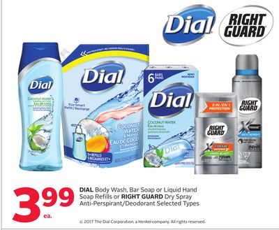 Dial Body Wash - Bar Soap or Liquid Hand Soap Refills or Right Guard Dry Spray Anti-perspirant/deodorant