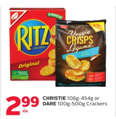 Christie 106g-454g or Dare 100g-500g Crackers