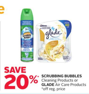 Scrubbing Bubbles Cleaning Products Or Glade Air Care Products