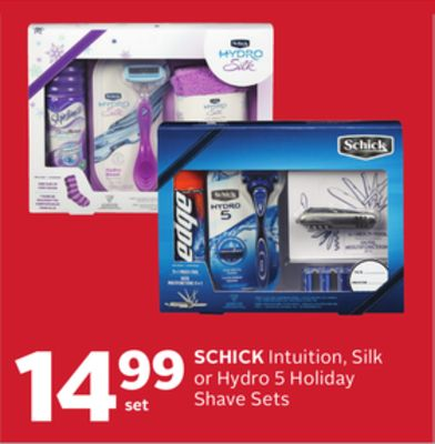 Schick Intuition - Silk or Hydro 5 Holiday Shave Sets