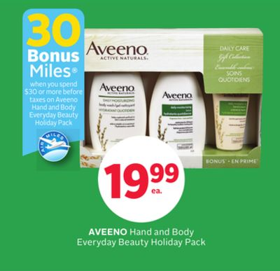 Aveeno Hand and Body Everyday Beauty Holiday Pack - 30 Bonus Air Miles Reward Miles