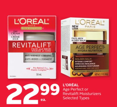L'oréal Age Perfect or Revitalift Moisturizers