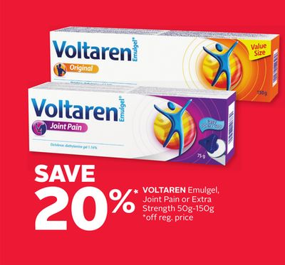 Voltaren Emulgel - Joint Pain or Extra Strength 50g-150g