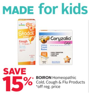 Boiron Homeopathic Cold - Cough & Flu Products