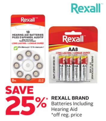 Rexall Brand Batteries Including Hearing Aid