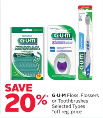 GUM Floss - Flossers or Toothbrushes