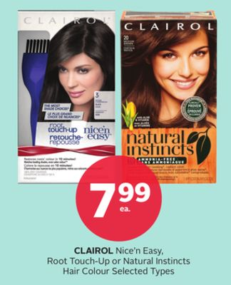 Clairol Nice'n Easy - Root Touch-up or Natural Instincts Hair Colour