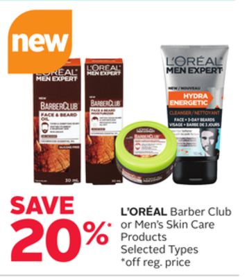 L'oréal Barber Club or Men's Skin Care Products