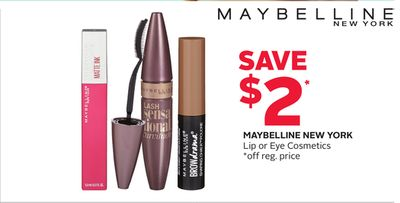 Maybelline New York Lip or Eye Cosmetics