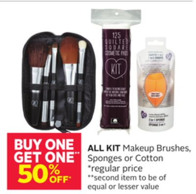 All Kit Makeup Brushes - Sponges or Cotton