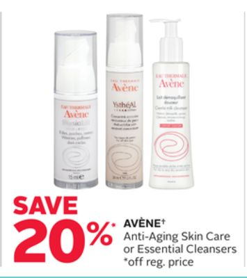 Avène Anti-aging Skin Care or Essential Cleansers