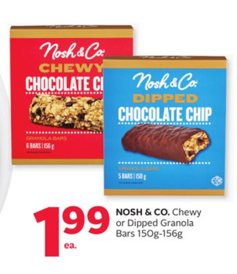 Nosh & Co. Chewy or Dipped Granola Bars