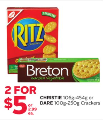 Christie 106g-454g or Dare 100g-250g Crackers