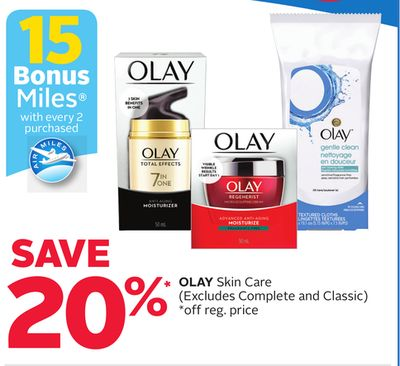 Olay Skin Care - 15 Bonus Air Miles Reward Miles