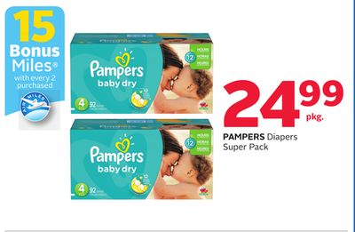 Pampers Diapers Super Pack - 15 Bonus Air Miles Reward Miles