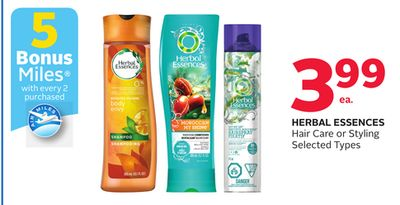 Herbal Essences Hair Care or Styling- 5 Bonus Air Miles Reward Miles