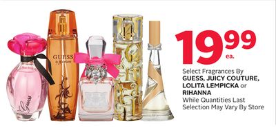 Select Fragrances By Guess - Juicy Couture - Lolita Lempicka or Rihanna