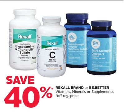 Rexall Brand or Be.better Vitamins - Minerals or Supplements