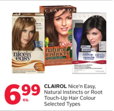Clairol Nice'n Easy - Natural Instincts or Root Touch-up Hair Colour